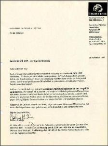 1997 - Einladungsschreiben