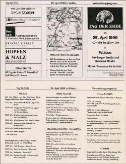 1999 Programm Tag der Erde in Kassel