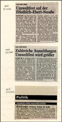HNA Artikel zum Tag der Erde 2000
