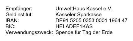 Kontonummer-Spende-Tag-der-Erde-Kassel
