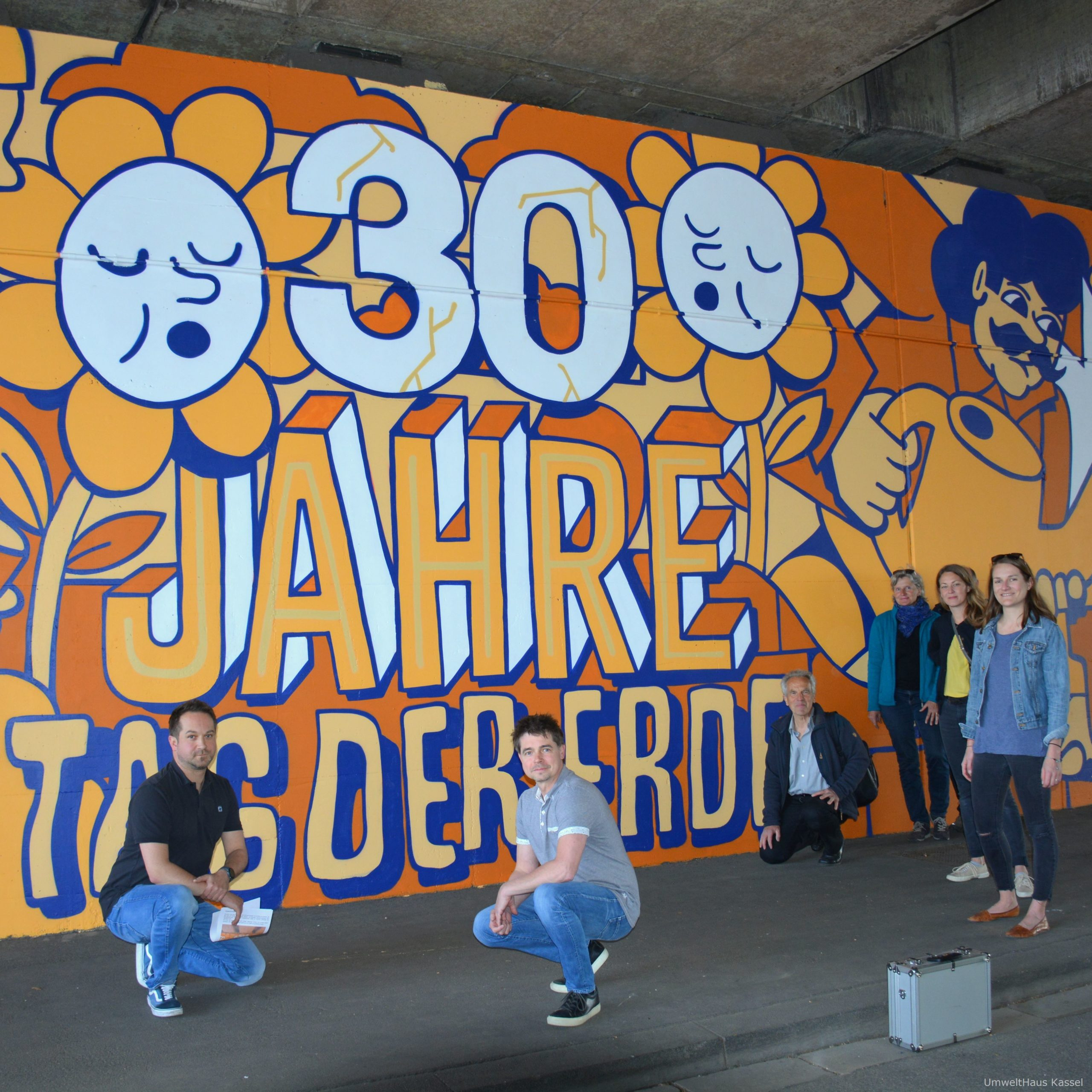 Wandgemälde Tag der Erde Kassel